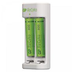 GP Eco E211 polnilec baterij + ReCyko 800 polnilne baterije, 2 x AAA