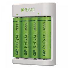 GP Punjač baterija Eco E411 + punjive baterije ReCyko 2000, 4 x AA