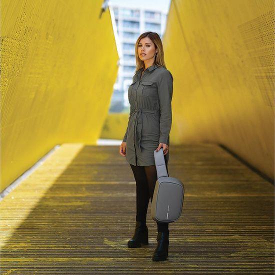 XD Design Biztonsági hátizsák a vállon keresztül Bobby Sling P705.782, szürke