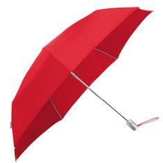Samsonite Skládací automatický deštník Alu Drop S Slim červená