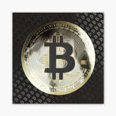 PixadoArt Bitcoin 3D Zlatý Plakát