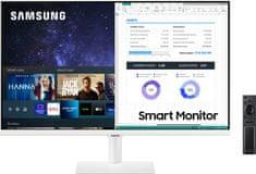 Samsung S27AM501 Smart M5 monitor, 68.6 cm, VA, FHD, WiFi, bel (LS27AM501NUXEN)