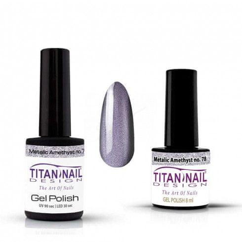 Titan Nail Design UV/LED lak za nohte (Gel Polish) - 8ml - Metalic Amethyst (no. 78)