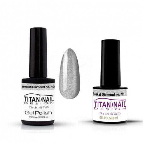 Titan Nail Design UV/LED lak za nohte (Gel Polish) - 8ml - Brokat Diamond (no. 79)