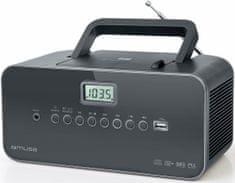 Muse M-28 DG radio s CD predvajalnikom, črn