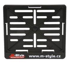 M-Style Podložka/ rámeček pod SPZ moto