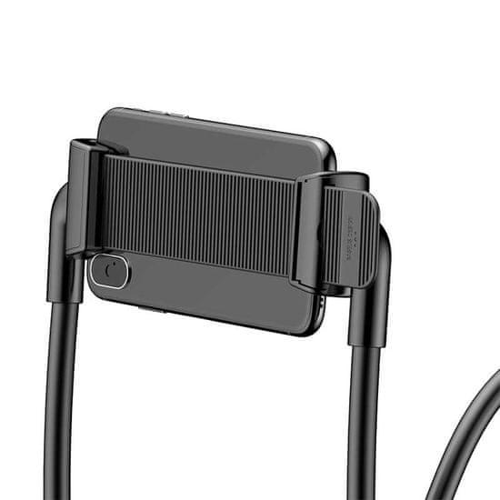 BASEUS SUJG-ALR02 nosilec za telefon, okoli vratu, črn