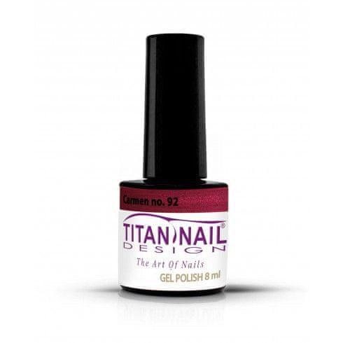 Titan Nail Design UV/LED lak za nohte (Gel Polish) - 8ml - Carmen (no. 92)