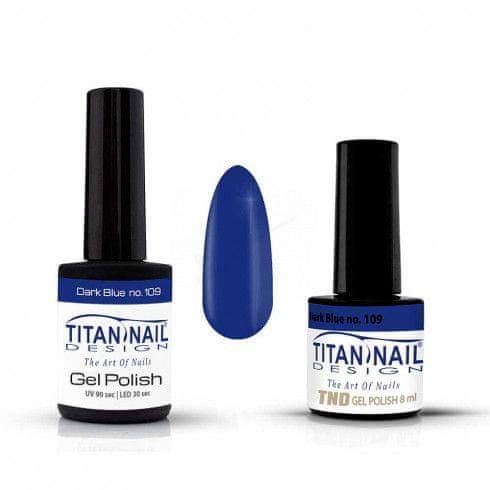 Titan Nail Design UV/LED lak za nohte (Gel Polish) - 15ml - Dark Blue (no. 109)