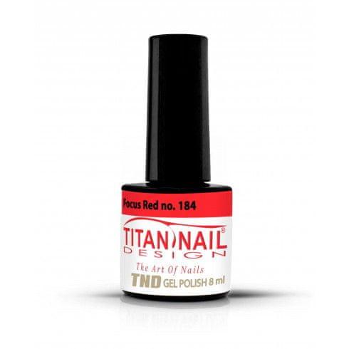 Titan Nail Design UV/LED lak za nohte (Gel Polish) - 8ml - Focus Red (no. 184)
