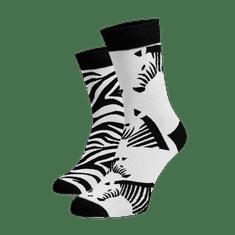 Veselé ponožky Zebry Bílá Bavlna 35-38