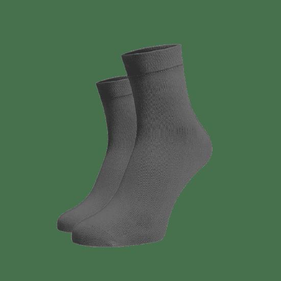 BENAMI Střední ponožky tmavě šedé Tmavě šedá Bavlna 35-38