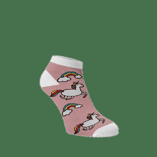 BENAMI Veselé ponožky Jednorožci kotníkové Světlé růžová Bavlna 33-34