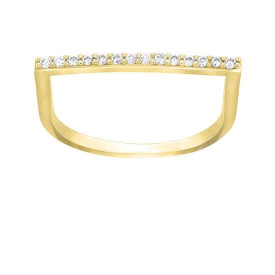 Brilio Silver Štýlový pozlátený prsteň so zirkónmi GR062Y striebro 925/1000