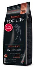 Fitmin dog For Life Beef & Rice hrana za pse, 14 kg + 2 kg