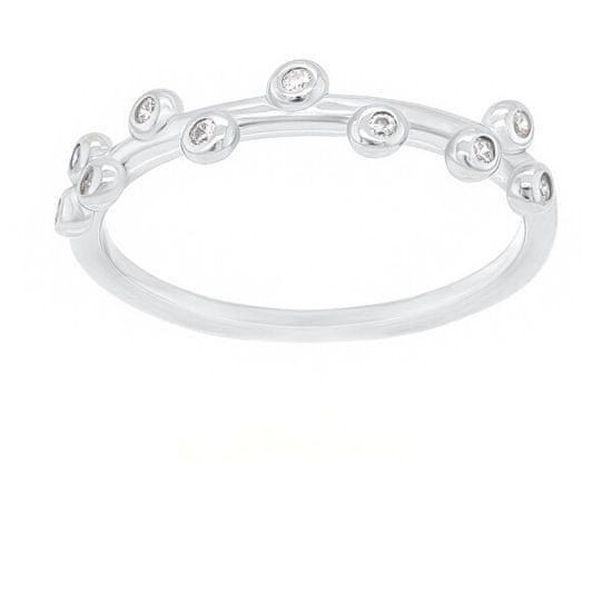 Brilio Silver Okouzlující stříbrný prsten se zirkony GR107W stříbro 925/1000
