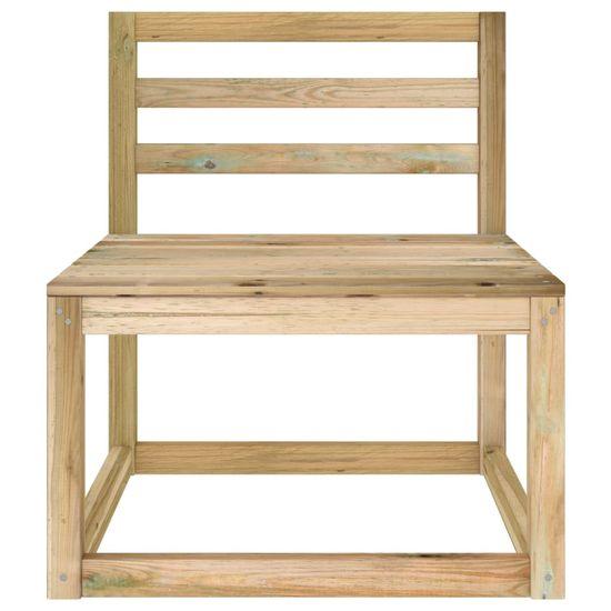 shumee 2-ks. sada záhradného nábytku do záhrady, impregnovaná borovica