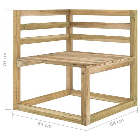 shumee 7 ks. záhradné sedenie, impregnované drevo