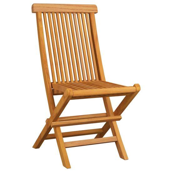 shumee Krzesła ogrodowe z bordowymi poduszkami, 8 szt., drewno tekowe