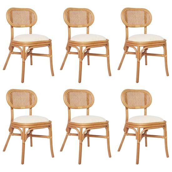 shumee Krzesła stołowe, 6 szt., lniane