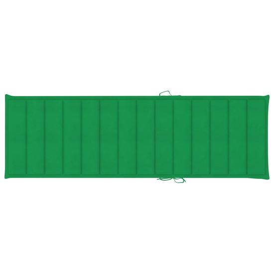 shumee impregnált fenyőfa napozóágy zöld párnával