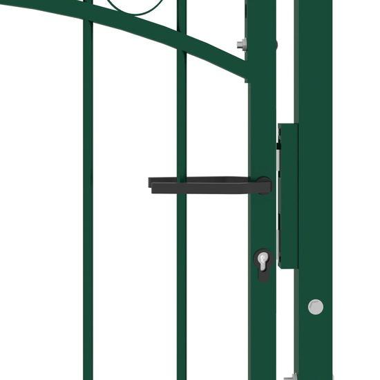 shumee zöld acél kerítéskapu cövekekkel 100 x 100 cm