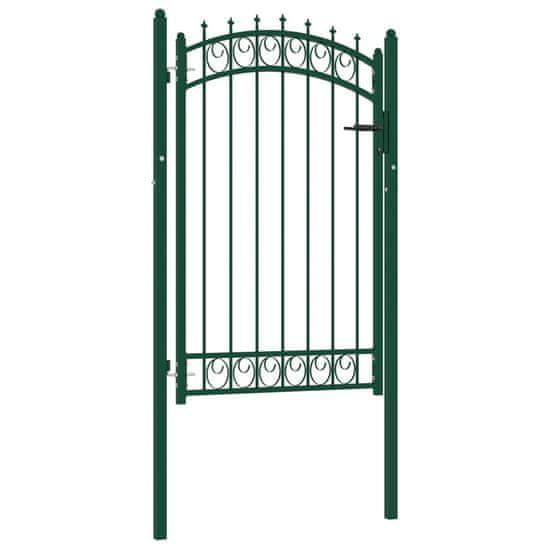 shumee zöld acél kerítéskapu cövekekkel 100 x 150 cm