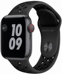 Apple Watch Nike SE Cellular, 40mm Space Gray Aluminium Case with Anthracite/Black Nike Sport Band