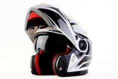 MAXX FF 950 Helma s vyklápěcím integrálem bíločerná, XXL