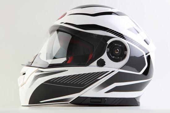 MAXX FF 950 Helma s vyklápěcím integrálem bíločerná