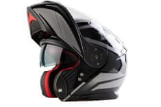 MAXX FF 950 Helma s vyklápěcím integrálem černostříbrná, XXL