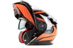 MAXX FF 950 Helma s vyklápěcím integrálem černooranžová, XXL