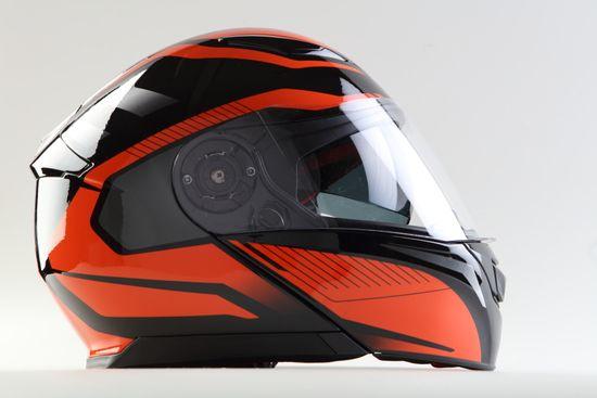 MAXX FF 950 Helma s vyklápěcím integrálem černooranžová