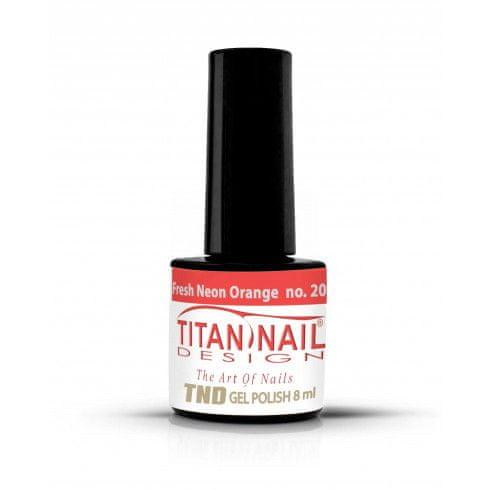 Titan Nail Design UV/LED lak za nohte (Gel Polish) - 8ml - Fresh Neon Orange (no. 204)