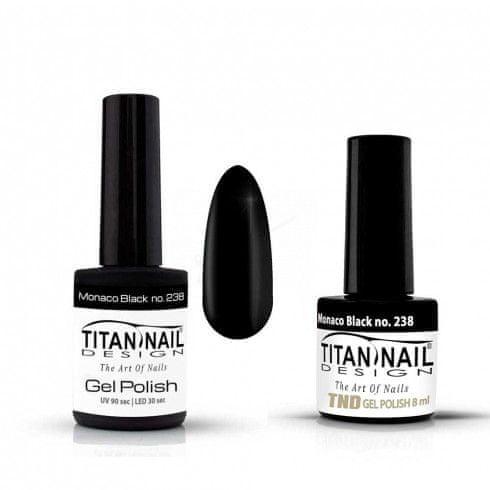 Titan Nail Design UV/LED lak za nohte (Gel Polish) - 8ml - Monaco Black (no. 238)