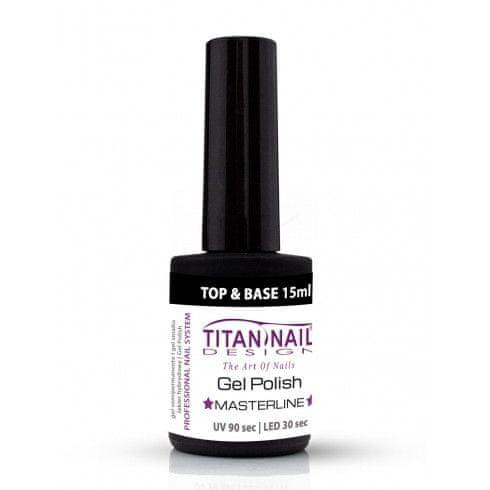 Titan Nail Design UV/LED lak za nohte (Gel Polish) 2IN1 BASE&TOP 15ml