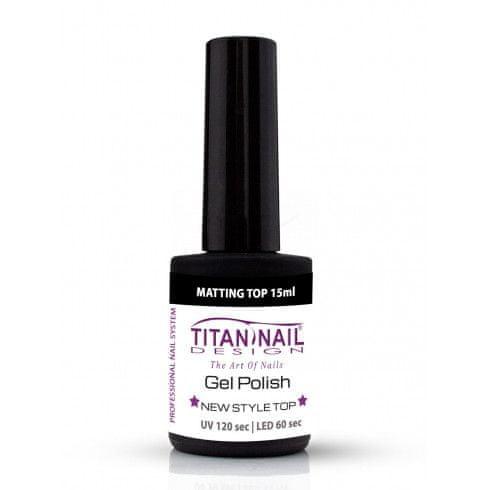 Titan Nail Design UV/LED lak za nohte (Gel Polish) Mat Top - 15 ml