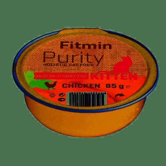 shumee Fitmin Cat Purity alutray Kitten Chicken 85 g - nedves táplálék minden fajtájú fiatal macskáknak 85 g csirkével