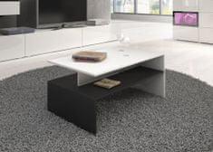 Nejlevnější nábytek BRODIE konferenční stolek, bílá/černá