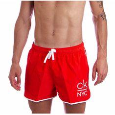 Calvin Klein Moške plavalne kratke hlače KM0KM00461-XBG (Velikost S)