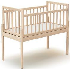 AT4 Mini otroška postelja UNIVERSAL WEBABY, buk nelakirana