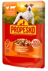 Propesko hrana za odrasle pse, piletina i govedina, 24 x 100 g