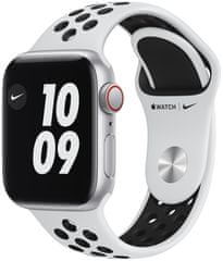 Apple Watch Nike SE Cellular, 40mm Silver Aluminium Case with Pure Platinum/Black Nike Sport Band