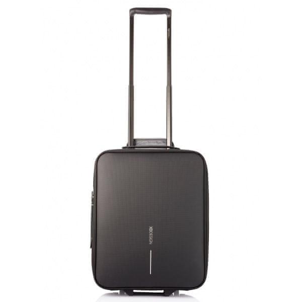 XD Design Příruční kufr na kolečkách Flex Trolley 15-30 L P705.811, černý