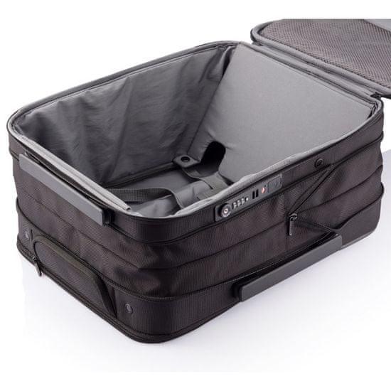 XD Design Kerekes bőrönd Flex Trolley 15-30 L P705.811, fekete