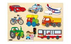 Woody sestavljanka vozila, lesena (šk.91906)