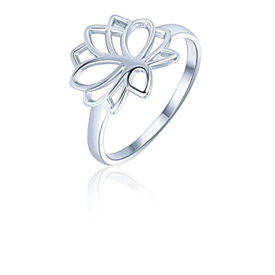 JVD Srebrni minimalistični prstan Lotusov cvet SVLR0313XH200 srebro 925/1000