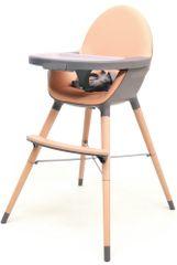 AT4 jedilni stol 2v1 ESSENTIEL, siva/breskva