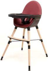 AT4 jedilni stol 2v1 CONFORT, črna/bordo