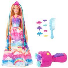 Mattel Barbie Princess z kolorowymi włosami